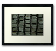 Metal desks Framed Print