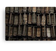 wooden desks Canvas Print