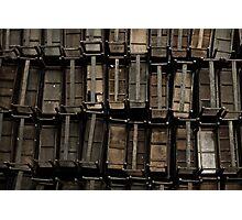 wooden desks Photographic Print