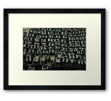 metal chairs Framed Print