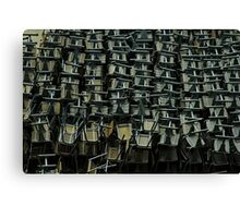 metal chairs Canvas Print