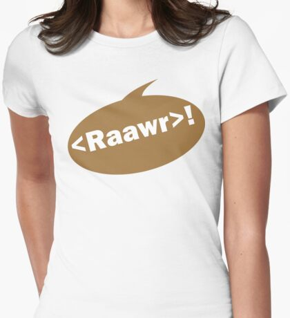 Raawr! Womens Fitted T-Shirt