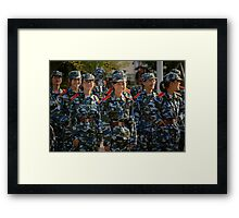girl soldiers 1 Framed Print