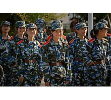 girl soldiers 1 Photographic Print