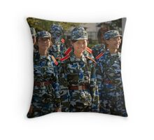 girl soldiers 1 Throw Pillow