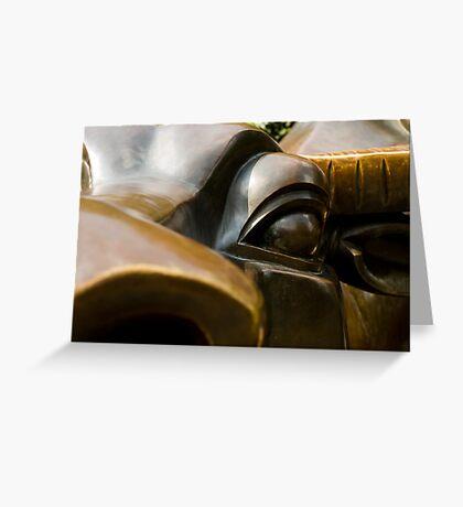 bronze eye Greeting Card