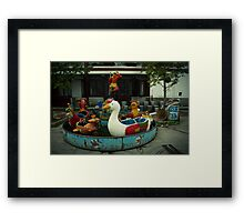 things go round Framed Print
