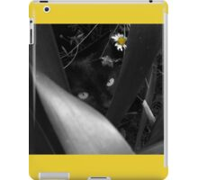 Lela in Black, White and YELLOW iPad Case/Skin