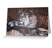 Relaxing Tiger Greeting Card