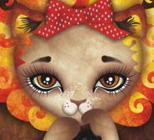 Cowardly Lioness Sticker