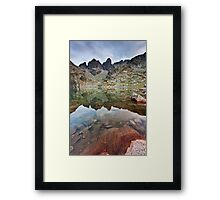 The Red Stone Framed Print