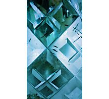 Aqua Crystal Photographic Print