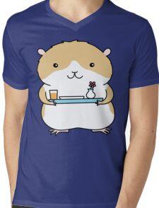 Breakfast in Bed - Hamster Mens V-Neck T-Shirt
