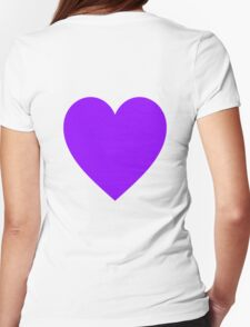 PURPLE, HEART, blue, violet, mulberry, amethyst, plum, lilac, mauve, T-Shirt