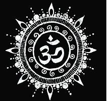 Om Namaste Symbol Reverse  by Marcia  Connell-Smith