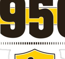 Born in 1950 (Choco&Yellow) Sticker