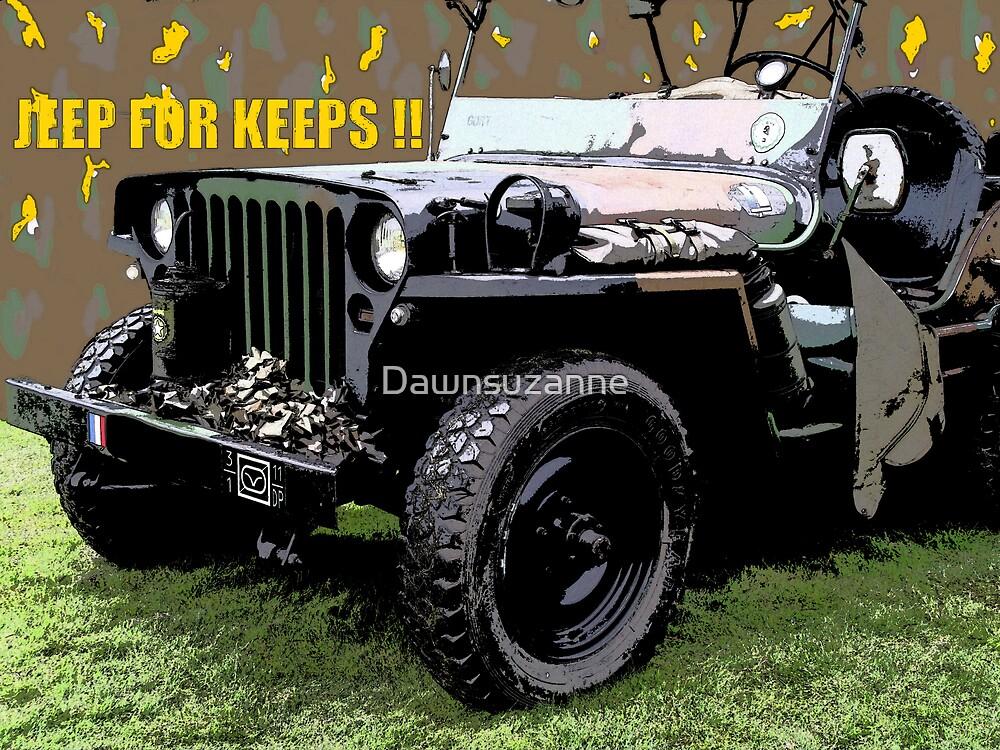 """JEEP FOR KEEPS""Comic Strip Jeep by Dawnsuzanne"