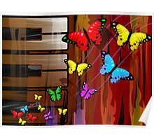 beautiful and colourful butterflies Poster