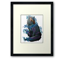 Fox Fire Framed Print