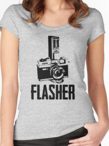 Flasher Camera Women's Fitted Scoop T-Shirt