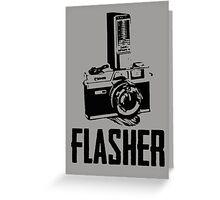 Flasher Camera Greeting Card