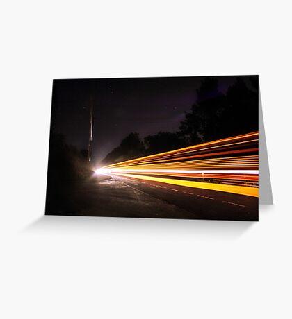 Multi Light Trails  Greeting Card