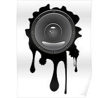 Grunge Audio Speaker Poster