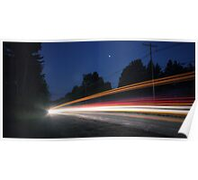 (Pre-dawn) Highway Traffic Poster