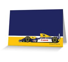 1993 Williams FW15C Formula 1 race car piloted by Alain Prost and Damon Hill Greeting Card
