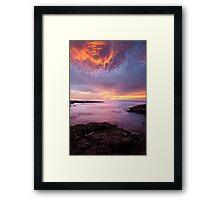 Kiama Firesky Framed Print