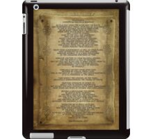 "Desiderata ""desired things"" on parchment iPad Case/Skin"