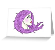 Lavender Wind Greeting Card