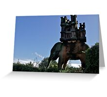 Elephant & Castle Statue, Peckforton, Cheshire Greeting Card