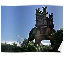 Elephant & Castle Statue, Peckforton, Cheshire Poster