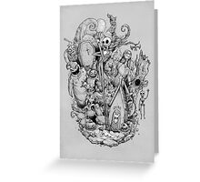 A nightmare in black and white Greeting Card
