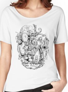 A nightmare in black and white Women's Relaxed Fit T-Shirt