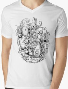 A nightmare in black and white Mens V-Neck T-Shirt