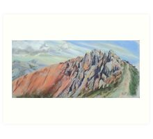 North Ridge of Crib Goch, Snowdonia Art Print