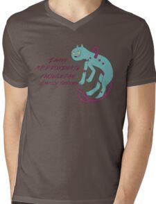 Demon Cat Mens V-Neck T-Shirt