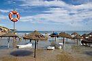 Algarve: High Tide at Salema by Kasia-D