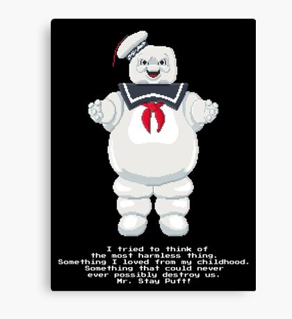 Stay Puft - Ghostbusters Pixel Art Canvas Print