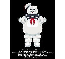 Stay Puft - Ghostbusters Pixel Art Photographic Print