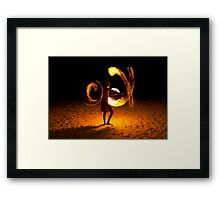 Playing with fire (3) Framed Print