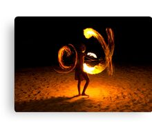 Playing with fire (3) Canvas Print