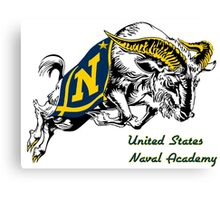 THE USNA Rampaging Goat! Canvas Print