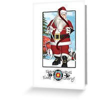 Christmas Card - Always Time For Archery  Greeting Card