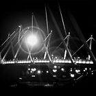 Bridge  at night by Sharon  Reid