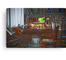 Fabio's desk Canvas Print
