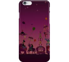 colorful circus carnival traveling in one row at night iPhone Case/Skin