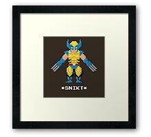 Wolverine 1 - Marvel Pixel Art Framed Print